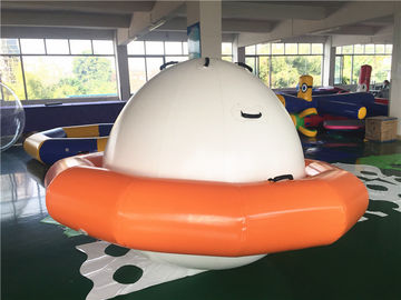 Double-Tripple Stitch Inflatable Water Toys For Summer , Blow Up Satumn UFO