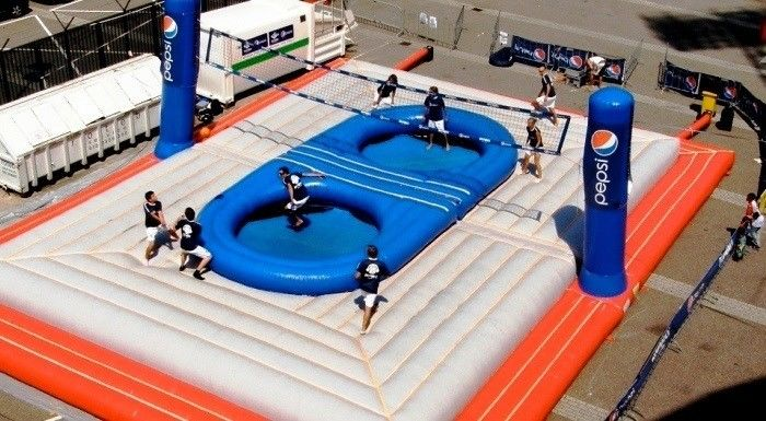 Kotex Argentina Beach Tour additionally Strange Sport Of The Week Bossaball in addition Pepsi Lanceert Nederlands together with Sale 3642289 Durable 0 55mm Pvc Inflatable Bossaball Court For Adult Inflatable Games as well Bossaball Volleyball With Tr olines Inflatable Island And Soccer. on bossaball court