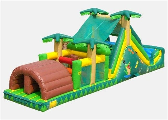 Commercial Inflatable Obstacle Course , Cheer Amusement Bouncer Obstacle Course